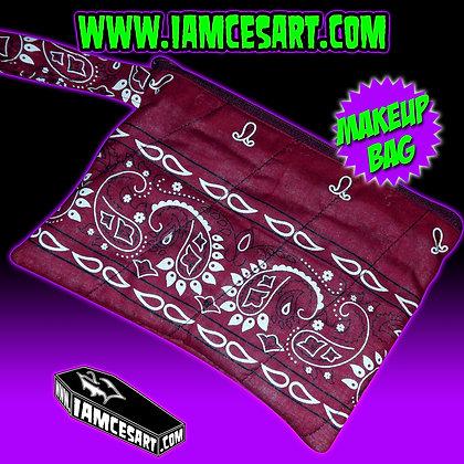 Burgundy Bandana Accessory Bag