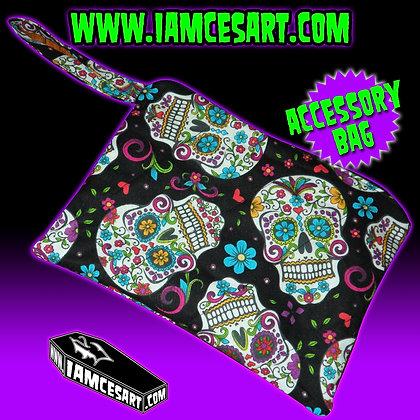 Black Sugar Skulls Accessory Bag