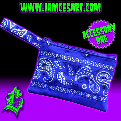 Royal Blue Bandana Accessory Bag