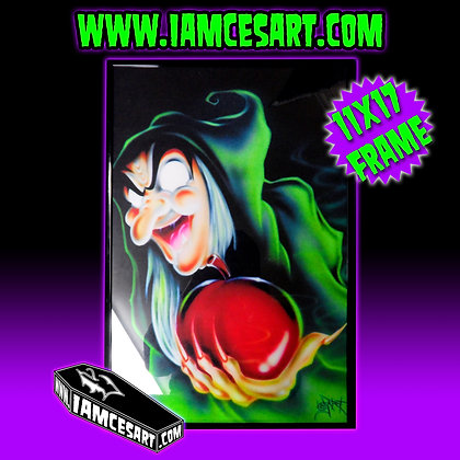 Rotten Apple with a Coat of Candy Framed
