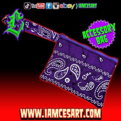 Purple Accessory Bag