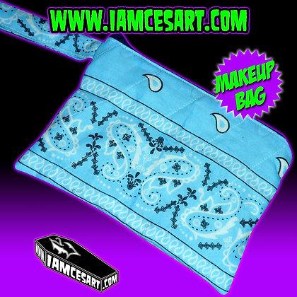 Baby Blue Bandana Accessory Bag