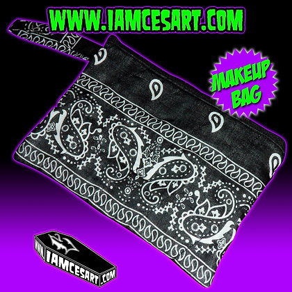 Black Bandana Accessory Bag