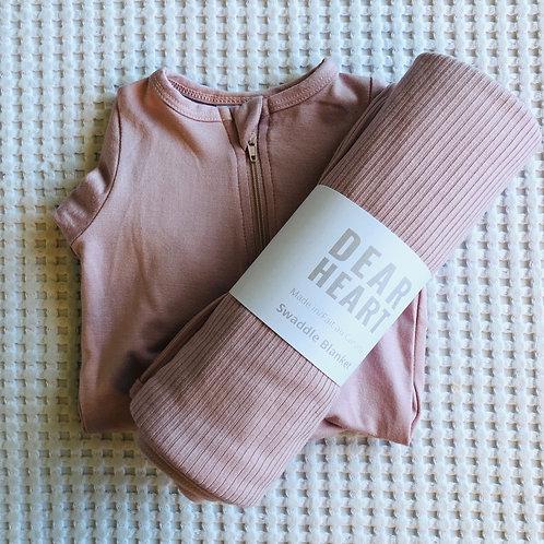 Blush Pink Bamboo Newborn Set