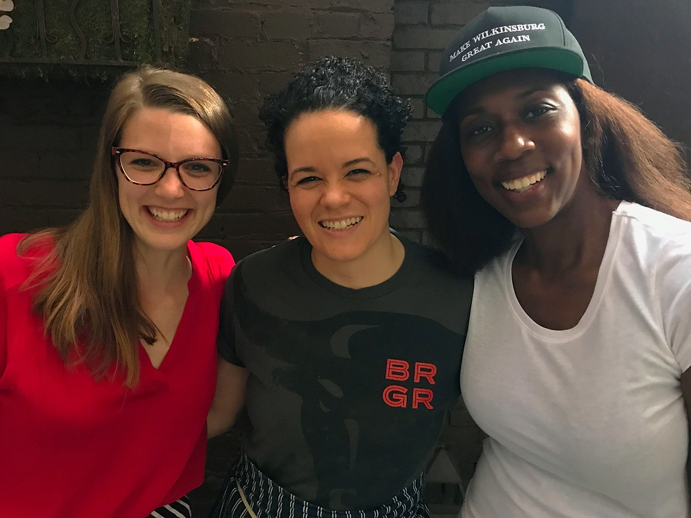 Monica Hershberger (co-host), Jamilka Borges (executive chef at spoon), Marita Garrett (co-host)