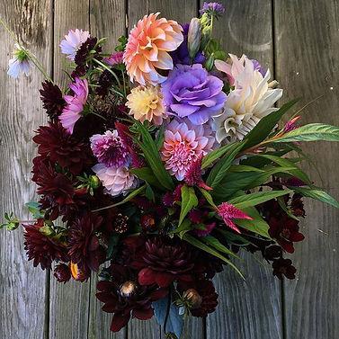 A custom bucket of beauty #weddingflower