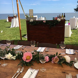 """""""A dinner party wedding on the CT shorel"""