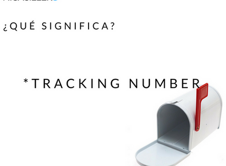 Qué significa: Tracking Number?