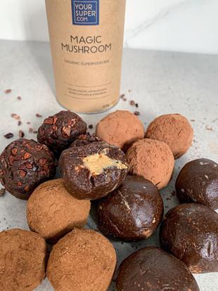 Magic Mushroom Cacao Energy Balls