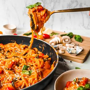 One Pot Plant Based Tomato Spaghetti