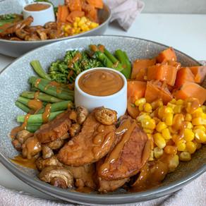 Maple-Soy Tempeh Buddha Bowl