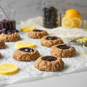 Blueberry & Lemon Thumbprint Cookies