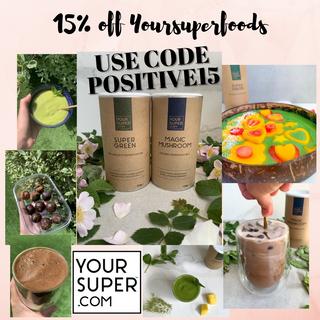 15% off Yoursuperfoods - DISCOUNT CODE POSITIVE15