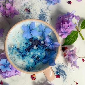 Ocean blue latte