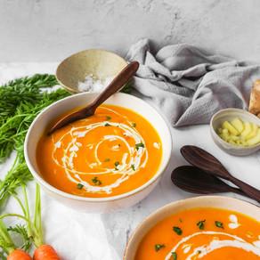 Carrot, Ginger & Lemongrass Soup