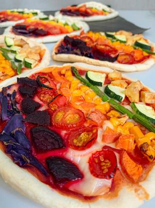 Rainbow Pizzettes