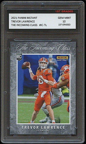 TREVOR LAWRENCE 2021 PANINI INSTANT INCOMING CLASS