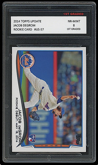 JACOB DEGROM 2014 TOPPS UPDATE ROOKIE CARD 1ST GRADED 8