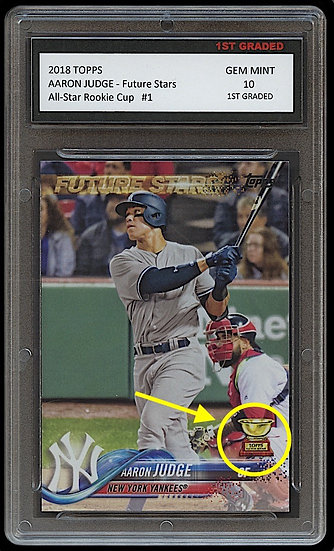 AARON JUDGE TOPPS ALL-STAR ROOKIE GOLD CUP 1ST GRADED 10 BASEBALL CARD YANKEES