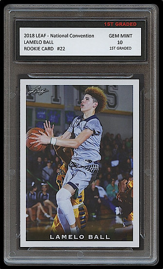 LAMELO BALL 2018 LEAF NATIONAL CONVENTION 1ST GRADED 10 ROOKIE CARD RC HORNETS