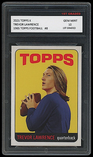 TREVOR LAWRENCE 2021 TOPPS X 1965 TOPPS FOOTBALL ROOKIE CARD