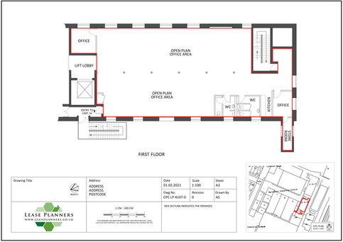 Commercial Scaled Floorplan Example