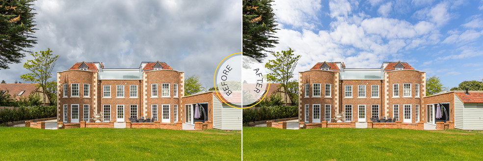 Professional Photo Editing - Before and After - Blue Skies