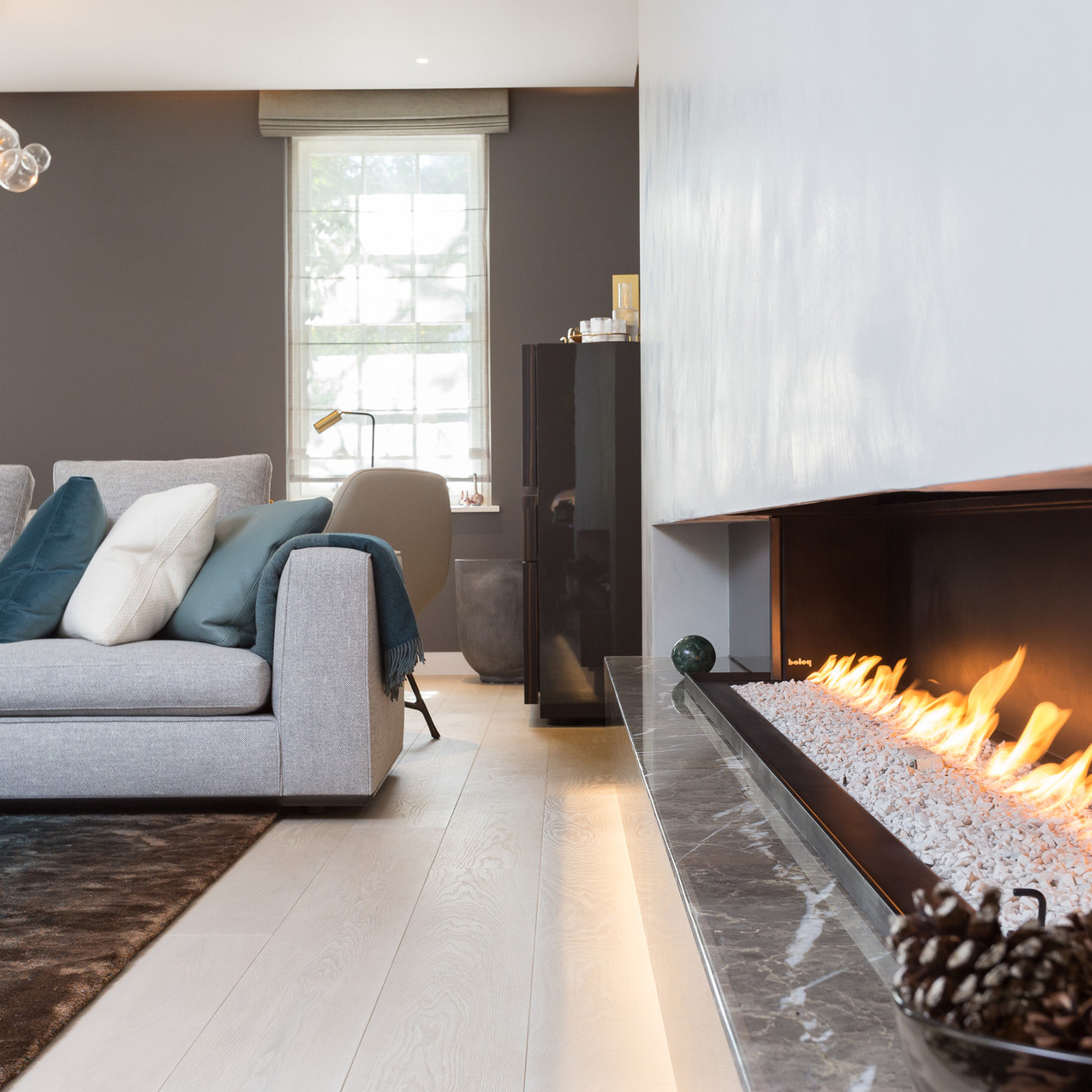 Fire Living Room, Hapstead, London