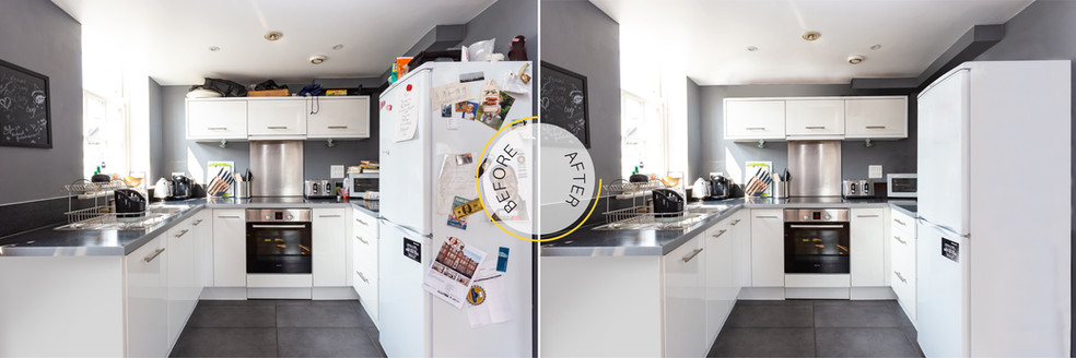 Professional Photo Editing - Before and After - Kitchen