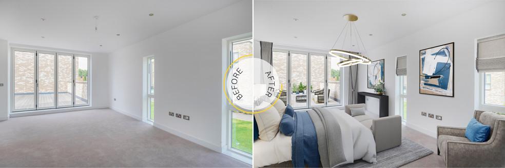 Interior Bedroom Virtual Staging