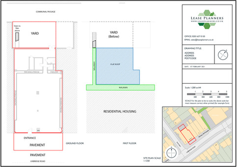 Commercial Land Registry Lease Plan Example