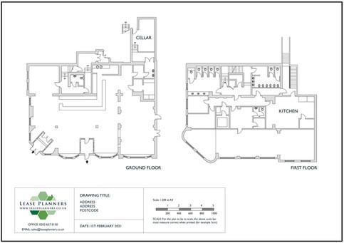 Scaled Floorplan Example