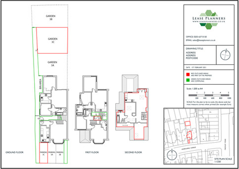 Residential Land Registry Lease Plan Example