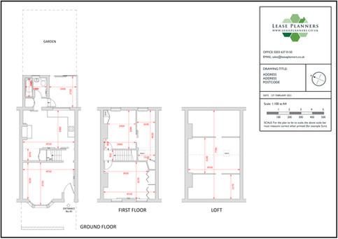 Residential Scaled Floorplan Example