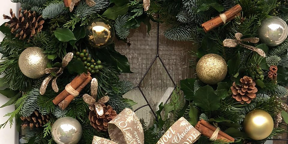 Luxury Christmas Wreath Making