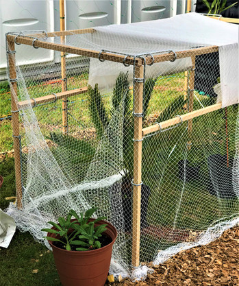 EASY STAKE system with netting