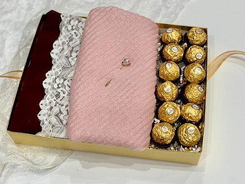 Engagement/Bridal Box - Pink & Gold
