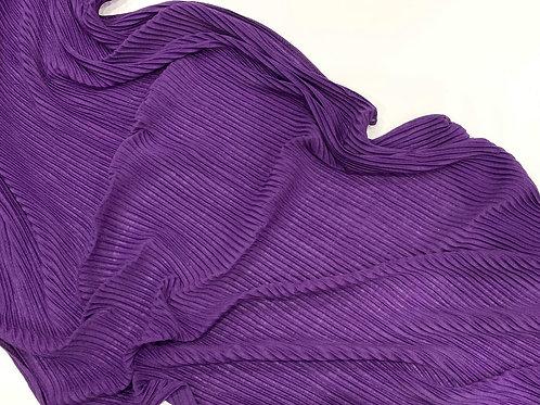 Pleated Jersey Hijab Purple