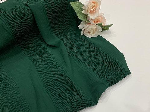 Crinkle Chiffon Hijab Forest Green