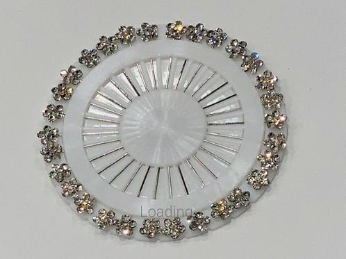 Floral Multi Color Diamond Pin Wheel