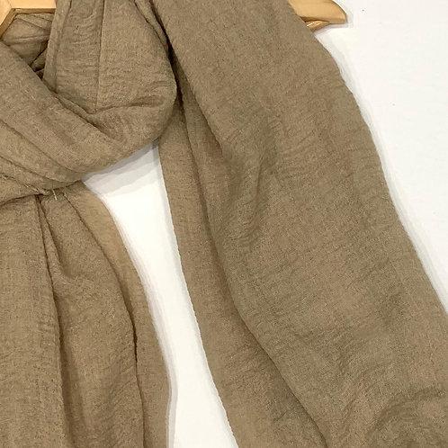 Crinkle Hijab Khaki
