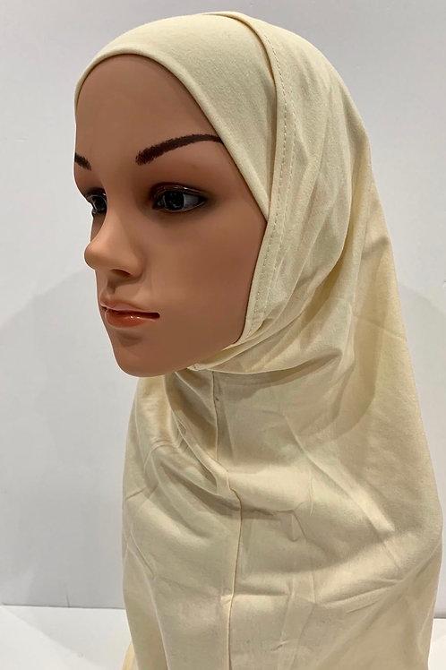 Kids 2 piece Hijab Large Cream