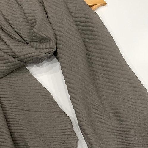 Ripple Crinkle Hijab  Grey