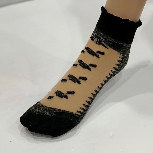 Rose & Leaf Ankle Socks