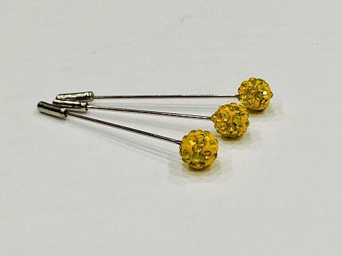 Crystal Pin Mustard