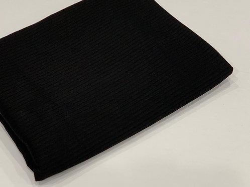 Ribbed Jersey Hijab Black