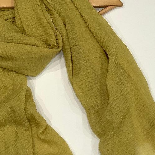 Crinkle Hijab Lemon Green