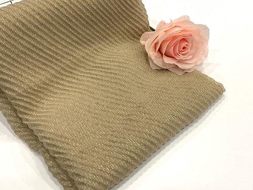 Ripple Shimmer Hijab Golden Beige