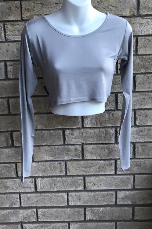 Crop Undershirt Light Grey