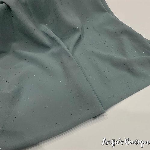 Glitter Chiffon Hijab Teal